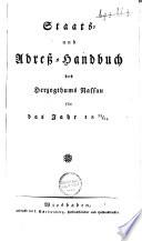 Staats- und Adresshandbuch des Herzogthums Nassau für das Jahr ...