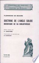 La Doctrine de L Angle Solide Construit Sous Trois Angles Plans