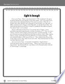 Test Prep Level 5 Eight Is Enough Comprehension And Critical Thinking book