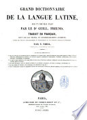 Grand dictionnaire de la langue latine