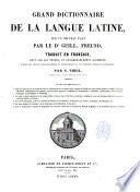 Grand dictionnaire de la langue latine