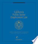 California Public Sector Employment Law