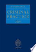 Blackstone s Criminal Practice 2016