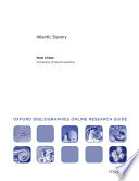 Atlantic Slavery  Oxford Bibliographies Online Research Guide