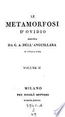 Le metamorfosi rid  da Gio   Andrea dell Anguillara in ottava rima