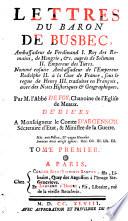 illustration Lettres du baron de Busbec ...