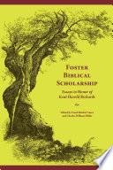 Foster Biblical Scholarship