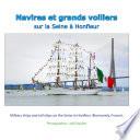 illustration Navires et grands voiliers sur la Seine à Honfleur