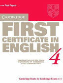 Cambridge First Certificate in English 4 Student s Book