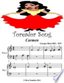 Toreador Song Carmen - Beginner Tots Piano Sheet Music Free download PDF and Read online