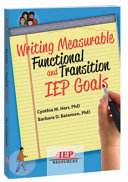Writing Measurable Functional and Transition IEP Goals