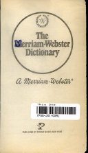 The Merriam Webster Dictionary Book PDF