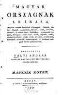 Magyar országnak leirása