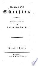 Hamann s Schriften