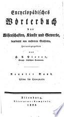 Encyclop  disches W  rterbuch der Wissenschaften  K  nste und Gewerbe