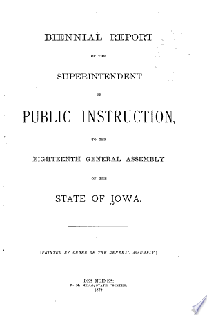 Report superintendent for public instruction
