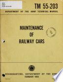Maintenance of Railway Cars