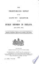 Report of the Deputy Keeper of the Public Records and of the Keeper of the State Papers in Ireland Book PDF