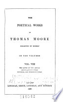 The Poetical Works of Thomas Moore  The loves of the angels  Miscellaneous poems  Satirical and humorous poems Book PDF