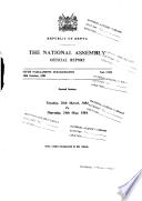 Kenya National Assembly Official Record  Hansard