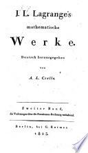 J  L  Lagrange s Mathematische werke  bd  Vorlesungen   ber die functionen rechnung  1823