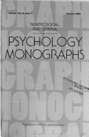 Genetic  Social  and General Psychology Monographs