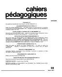 Cahiers p  dagogiques