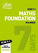 GCSE 9-1 Maths Foundation In a Week