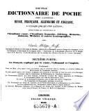 Nouvaeu Dictionnaire de Poche des Langues Russe, Francaise,Allemande et Anglaise a L'Usage des Quatre Nations