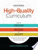 Ensuring High Quality Curriculum