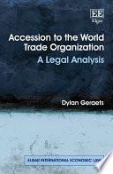 Accession to the World Trade Organization