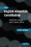 The English historical constitution