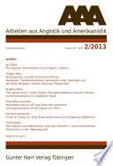 AAA Arbeiten aus Anglistik und Amerikanistik 2013