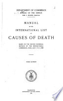 Manual of the International List of Causes of Death Based on the Second Decennial Revision by the International Commission, Paris, July 1 to 3, 1909