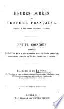 Heures Dor Es De Lecture Fran Aise Pour La Jeunesse Des Deux Sexes Etc
