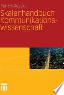 Skalenhandbuch Kommunikationswissenschaft