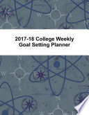 2017 18 College Weekly Goal Setting Planner