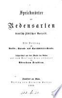 Sprichw  rter und Redensarten deutsch j  discher Vorzeit