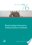 Benchmarking Of Deemed To Satisfy Provisions In Standards book