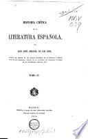 Historica cr  tica de la literatura espa  ola
