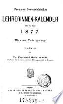 """""""Fromme's"""" Oesterreichischer Lehrerinnen-Kalender"""