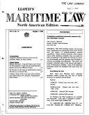 Lloyd s Maritime Law