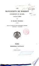 Les manuscrits de Diderot conservés en Russie
