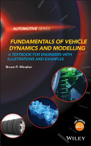 Vehicle Dynamics and Modeling