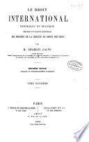 Le droit international th  orique et pratique