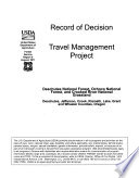 Deschutes National Forest  N F    Ochoco National Forest  N F    and Crooked River National Grassland  Travel Management Project