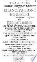 Tractatus Politico-Historico-Juridicus De Emancipatione Equestri, Vulgo Von Wehrhafft machen