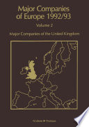 Major Companies of Europe 1992 93