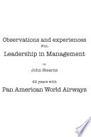 Observations and Experiences with Leadership in Management
