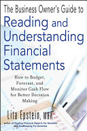 The Business Owner s Guide to Reading and Understanding Financial Statements